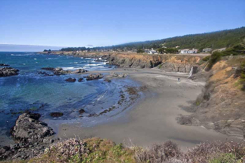 the beach around The Sea Ranch
